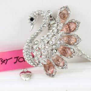 Betsey Johnson Gorgeous Swan Necklace